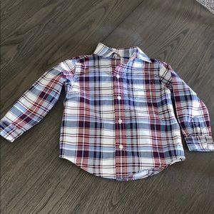 Janie and Jack Toddler Boy Plaid Twill Dress Shirt